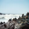 shallow focus photography of rock formation